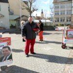 Sandhäuser Bürgermeister-Wahlkampf - Stationär und wandernd