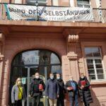 Hochrangige BDS-Delegation im Leimener Rathaus von OB Reinwald empfangen