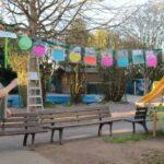 Frühlingsausstellung bei den Wombats und Faultieren im Ludwig-Uhland-Kindergarten