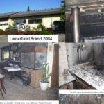 Liedertafel Leimen: Das Vereinsheim - Seine Wirte und der Brand von 2004