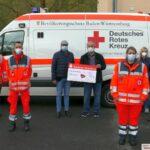 Leimen Aktiv im BdS spendet Rotem Kreuz 1000€ als Dank für Corona-Einsätze