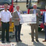Feuerwehr Leimen freut sich über großzügige Spende - BGV spendet 10.000 €