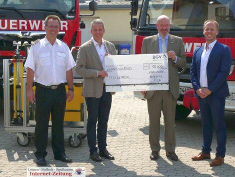 Feuerwehr Leimen freut sich über großzügige Spende – BGV spendet 10.000 €