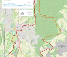 Stadtradeln: 20 km langer Rundweg Nußloch-Leimen-Nußloch mit Streckenprofil