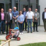 3,2 Mio. € Projekt - Erweiterung des Ludwig-Uhland-Kindergartens besichtigt
