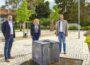 Christiane Staab zum Antrittsbesuch als MdL bei OB Reinwald in Leimen