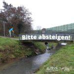 Vorsicht auf der Leimbachbrücke! </br>Rutschgefahr für Radfahrer und Fußgänger