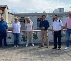 Grünen-Kandidat Jürgen Kretz besuchte die Bürger-Energie-Genossenschaft Leimen