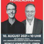 Politischer Frühschoppen mit Lars Castellucci im Weingut Adam Müller