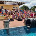Großartige Wasserspiele im vielseitigen Ferienprogramm des Schwimmklub Neptun
