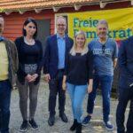Volker Wissing und Jens Brandenburg stellen sich in Leimen Fragen der Zuhörer