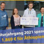 Abiturjahrgang des Friedrich-Ebert-Gymnasiums spendet für äthiopische Partnerschule