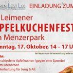 Kommenden Sonntag: Erstes Leimener Apfelkuchenfest im Menzerpark