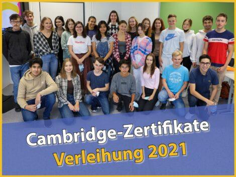 Cambridge-AG – Verleihung der Zertifikate am Fr.-Ebert-Gymnasium